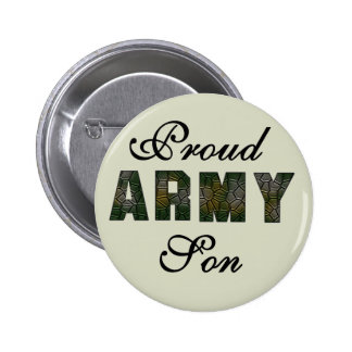Proud Army Son Tshirts and Gifts Pinback Button