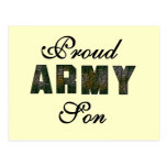 Proud Army Son Tshirts and Gifts Postcard