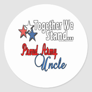 Proud Army Uncle Classic Round Sticker