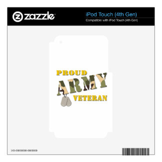 Proud Army Veteran Items iPod Touch 4G Skins