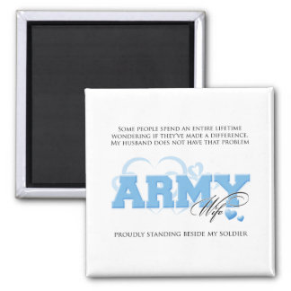 Proud ARMY Wife 2 Inch Square Magnet