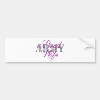 proud army wife acu car bumper sticker