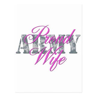 proud army wife acu postcard