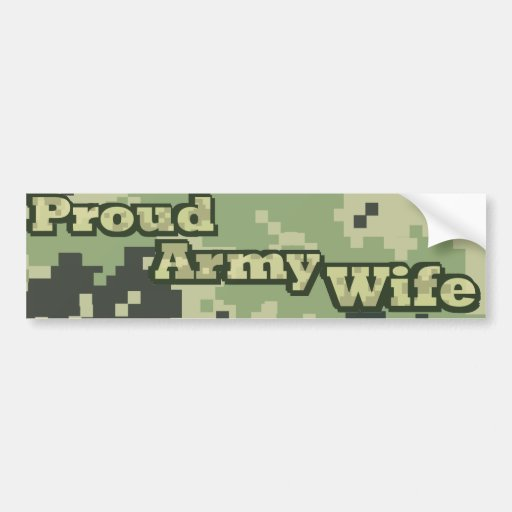 Proud Army Wife Bumper Sticker