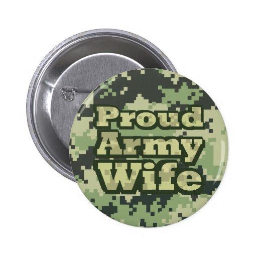 Proud Army Wife Pin