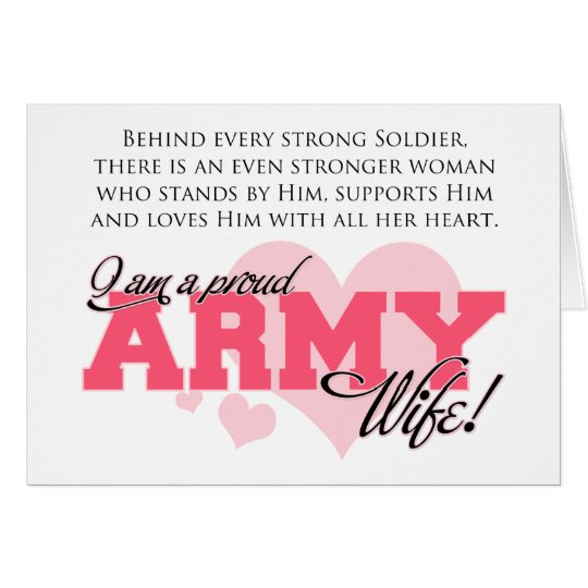 Proud Army Wife Card