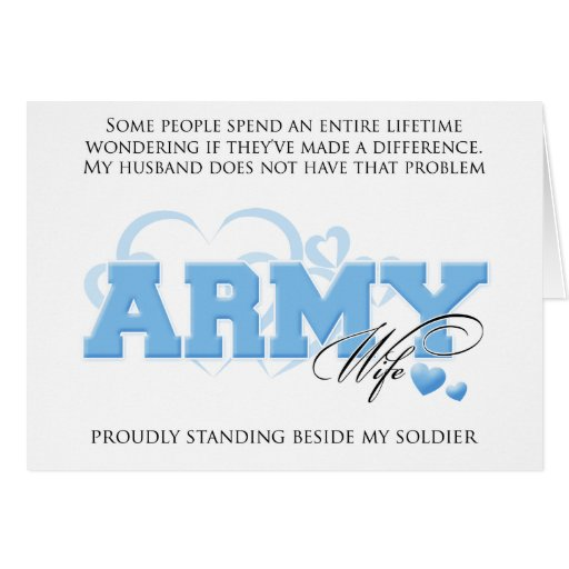 Proud ARMY Wife Greeting Cards