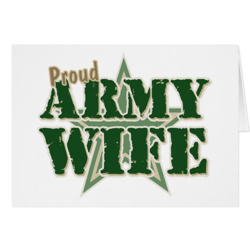 Proud Army Wife Cards