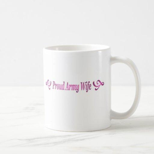 Proud Army Wife Classic White Coffee Mug