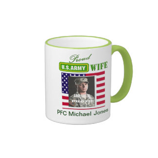 Proud Army Wife Coffee Cup - Add Photo & Text Coffee Mugs