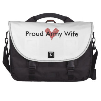 Proud Army Wife Computer Bag