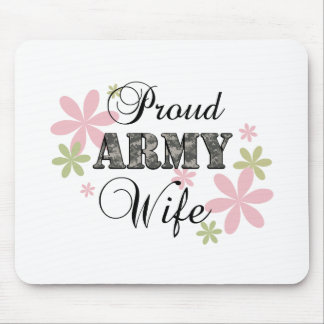 Proud Army Wife [fl c] Mouse Pad