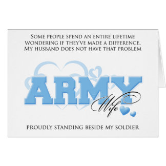 Proud ARMY Wife Greeting Card