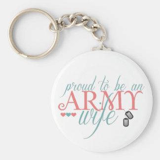 Proud Army Wife - Keychain