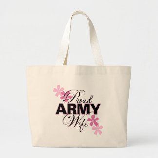 Proud Army Wife Large Tote Bag