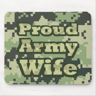 Proud Army Wife Mouse Pad