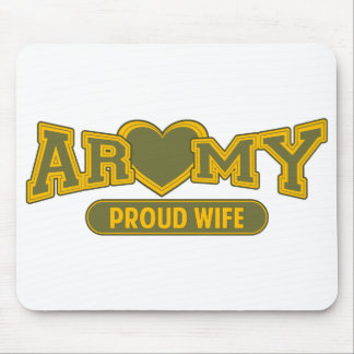 Proud Army Wife Mouse Pads