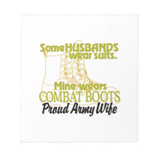Proud Army Wife Notepad