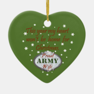 Proud Army Wife Ornament