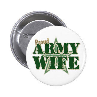 Proud Army Wife Pinback Button