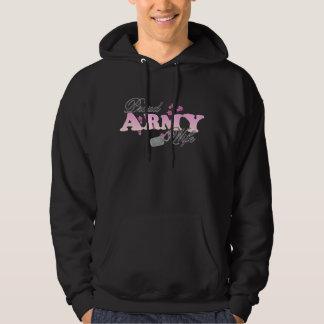 Proud Army Wife(pink) Hoody