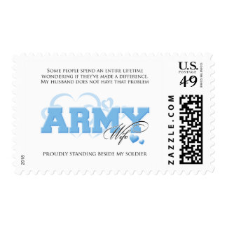 Proud ARMY Wife Postage