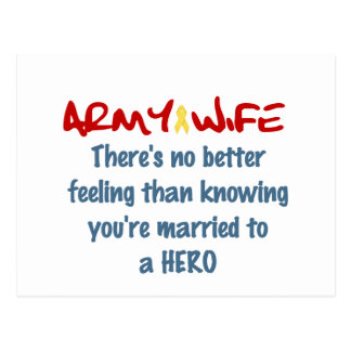 Proud Army Wife Post Cards
