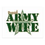 Proud Army Wife Postcard