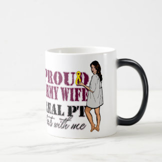 Proud Army Wife Real PT Starts With Me Magic Mug