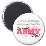 Proud Army Wife Refrigerator Magnet