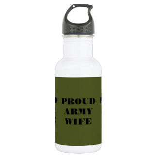 Proud Army Wife Stainless Steel Water Bottle