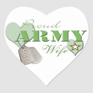 Proud Army Wife Stickers