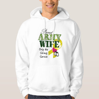 Proud army wife-strong survive hoodie