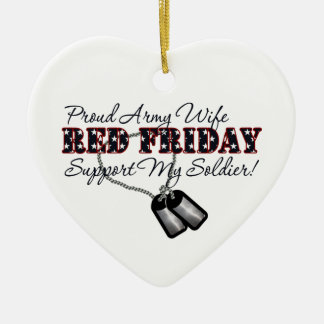Proud Army Wife (Support My Soldier) Ceramic Ornament