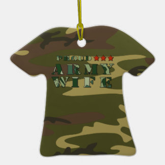 Proud Army Wife T-Shirt Ornament