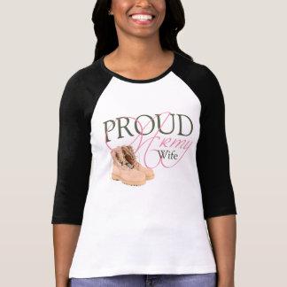 proud army wife tee shirt