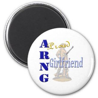 Proud ARNG Girlfriend 2 Inch Round Magnet
