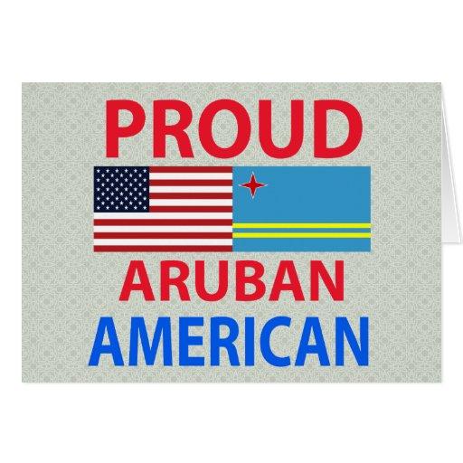 Proud Aruban American Greeting Card