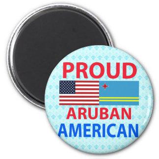 Proud Aruban American Refrigerator Magnets