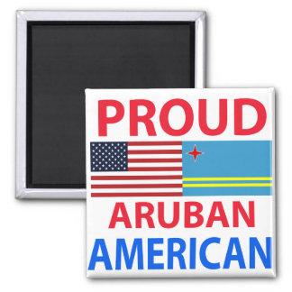 Proud Aruban American Magnets