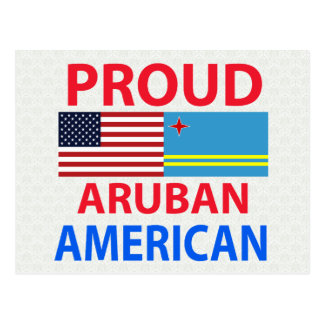 Proud Aruban American Postcard