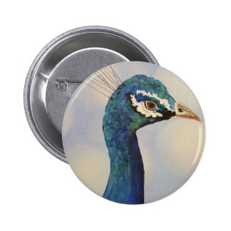 Proud as a peacock pinback button