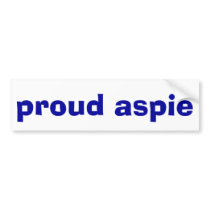 Proud Aspie Bumper Sticker