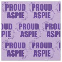 Proud Aspie Purple Fabric