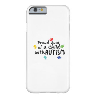 Proud Aunt Autism Awareness Puzzle Ribbon Gift Barely There iPhone 6 Case
