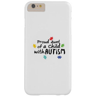 Proud Aunt Autism Awareness Puzzle Ribbon Gift Barely There iPhone 6 Plus Case