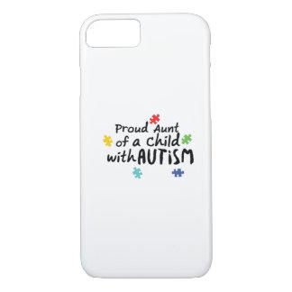 Proud Aunt Autism Awareness Puzzle Ribbon Gift iPhone 8/7 Case