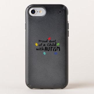 Proud Aunt Autism Awareness Puzzle Ribbon Gift Speck iPhone Case