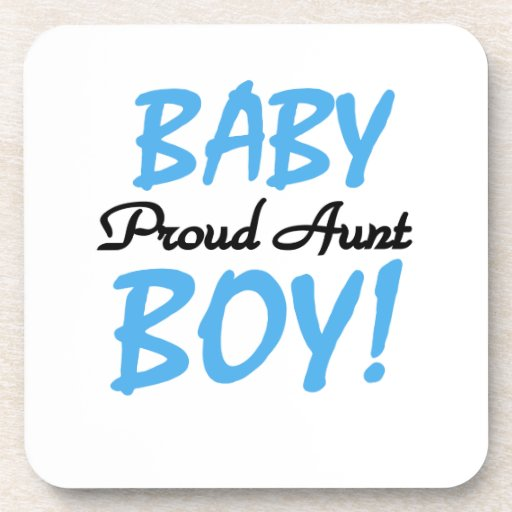 Proud Aunt Baby Boy T-shirts and Gifts Beverage Coasters