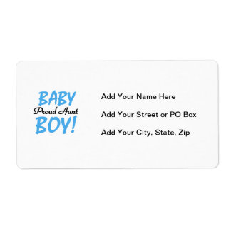Proud Aunt Baby Boy T-shirts and Gifts Label